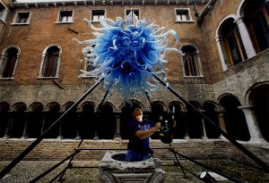 "Michael W. Barnard shooting ""Chihuly River of Glass"" in Venice, Italy"